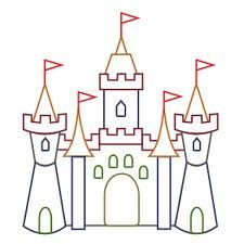 Palace clipart simple. Castle coloring pages cartoon