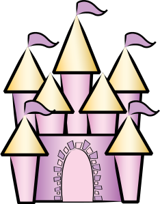 Palace clipart simple. Pencil and in color