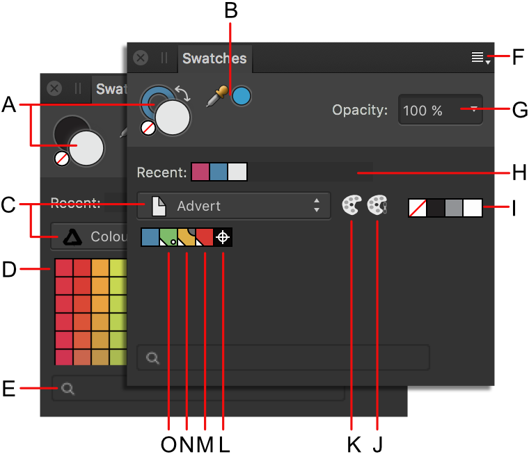 Vector designer affinity. Swatches panel
