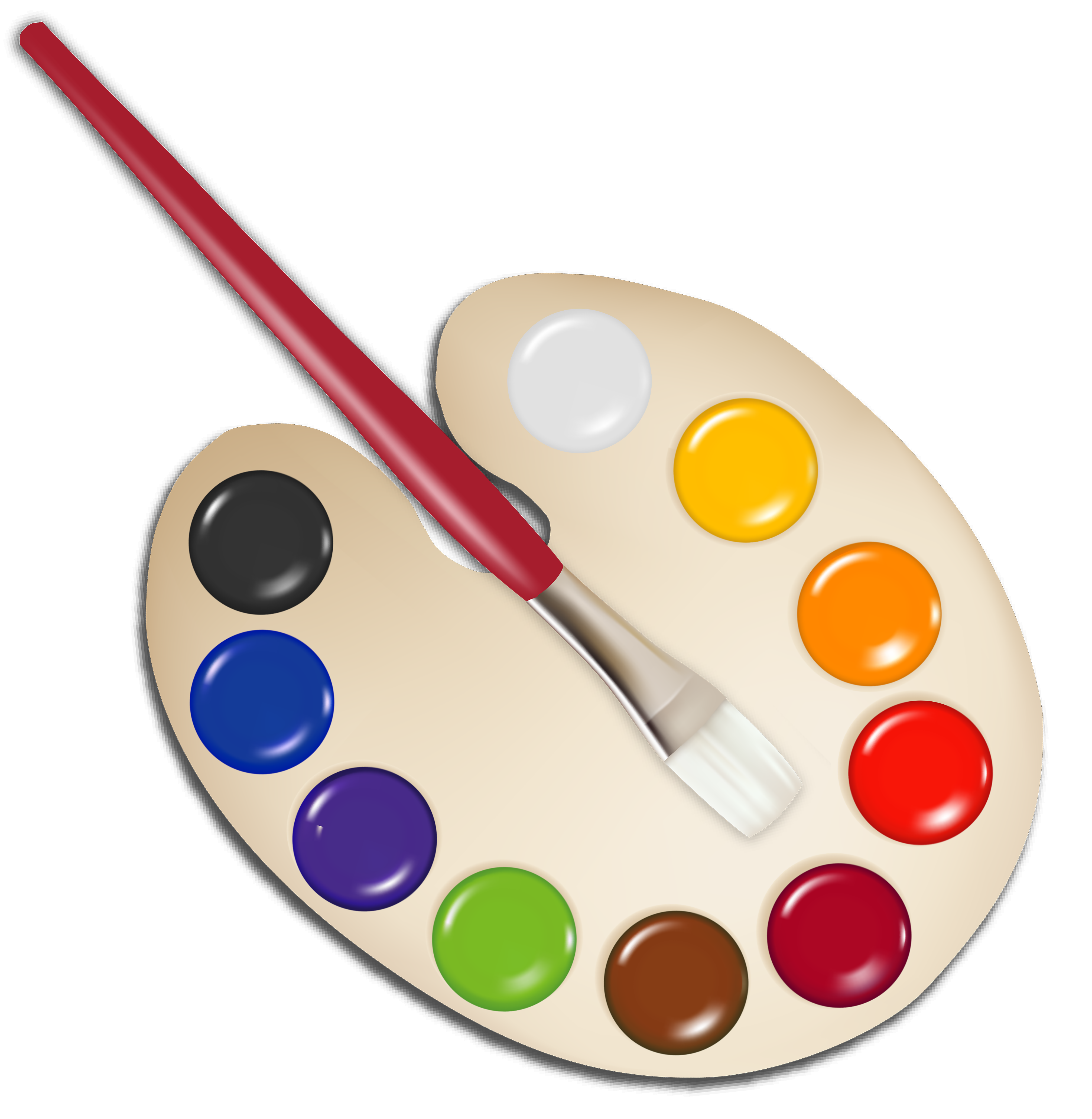 Palette clipart school. With paint brush png