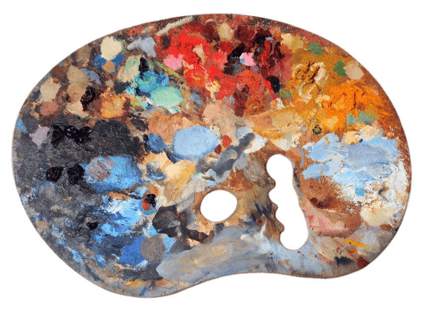 Palette vector aqua. Used artists png free
