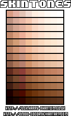 Palette vector brown. Skin colors on palettes