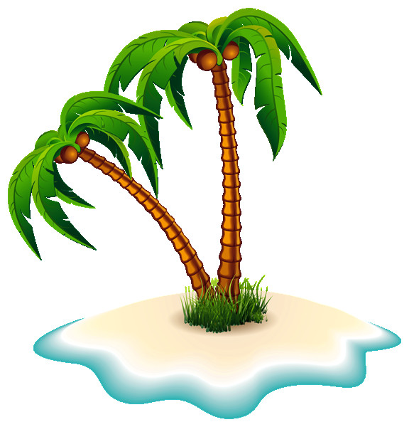Palm clipart cool. Trees and island png