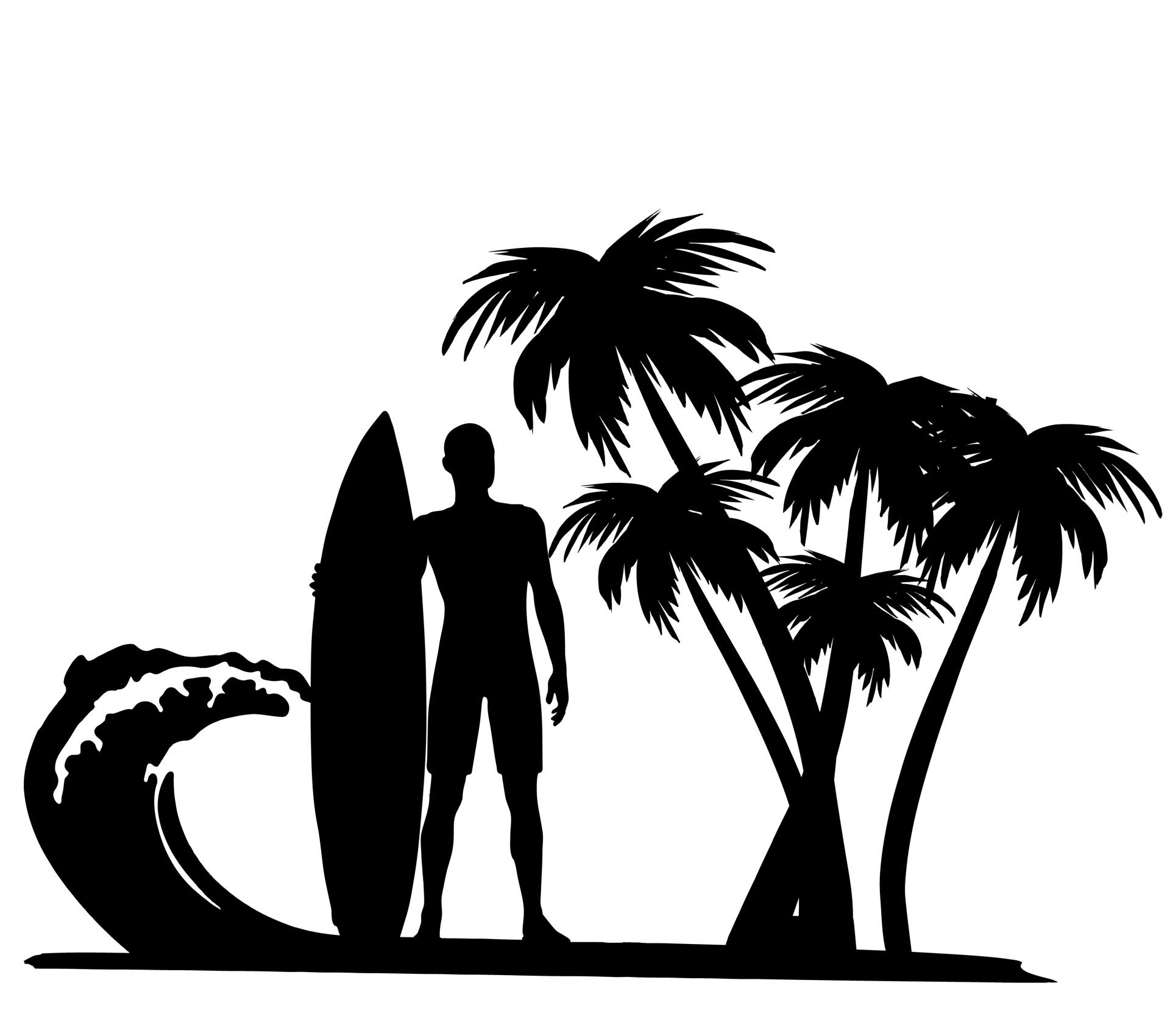 Palm clipart jpeg. Surfer trees free stock