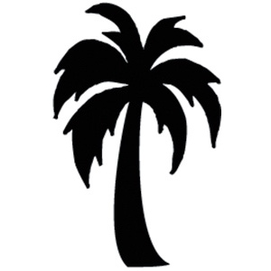 skyline clipart palm tree