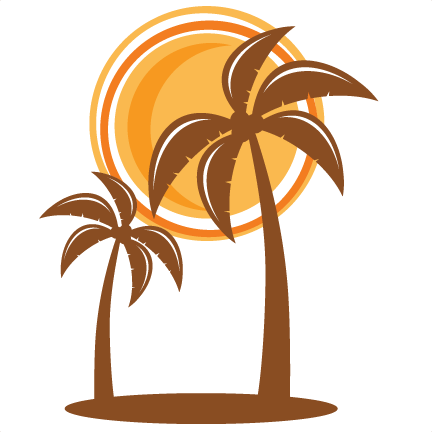 Palm tree sun png. Svg scrapbook cut file