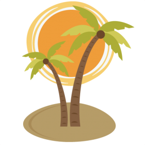 Palm clipart sun. Tree with svg file
