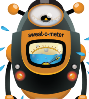 Palm clipart sweaty palm. Hands feet sweat meter