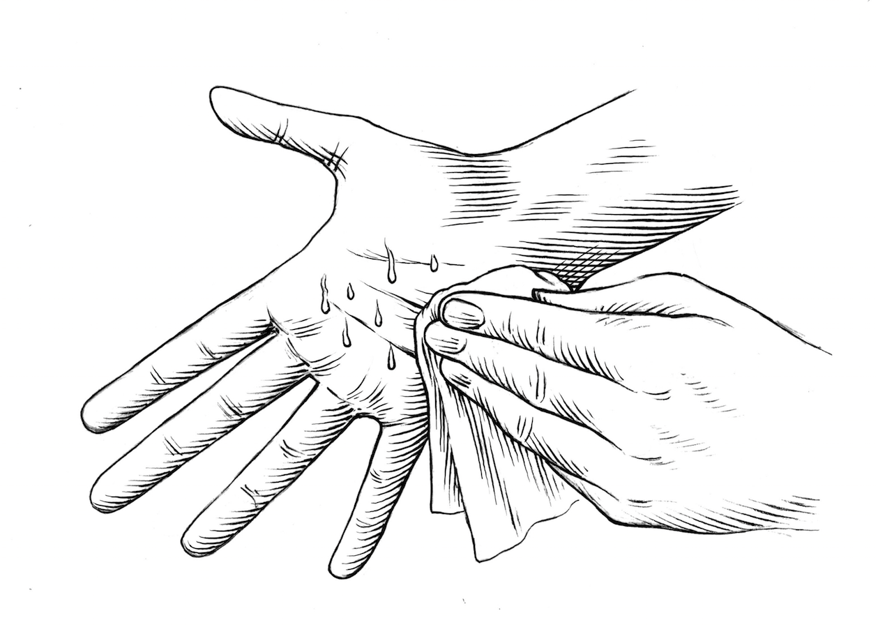 Palm clipart sweaty palm. Gq guide to handshakes