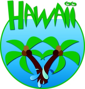 Palm clipart word. Hawaii image travel icon