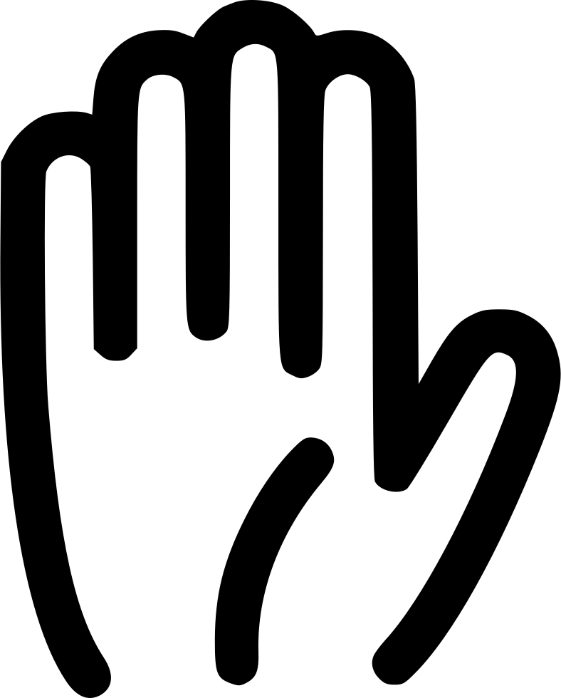 Palm hand png. Stop highfive fingers svg