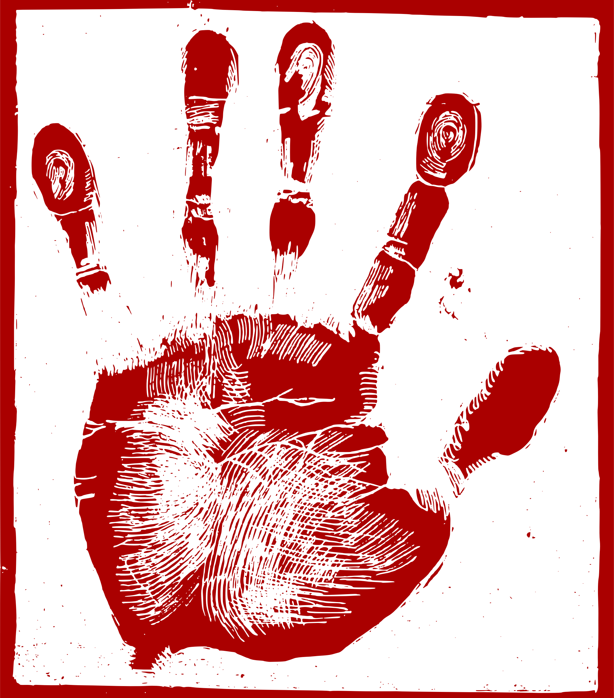 Palm print png. Red icons free and
