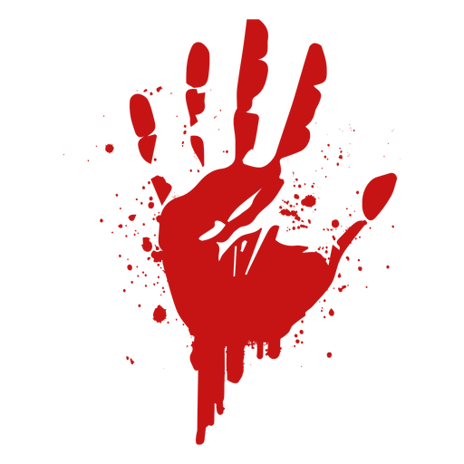 Palm print png. Finger blood silhouette transparent