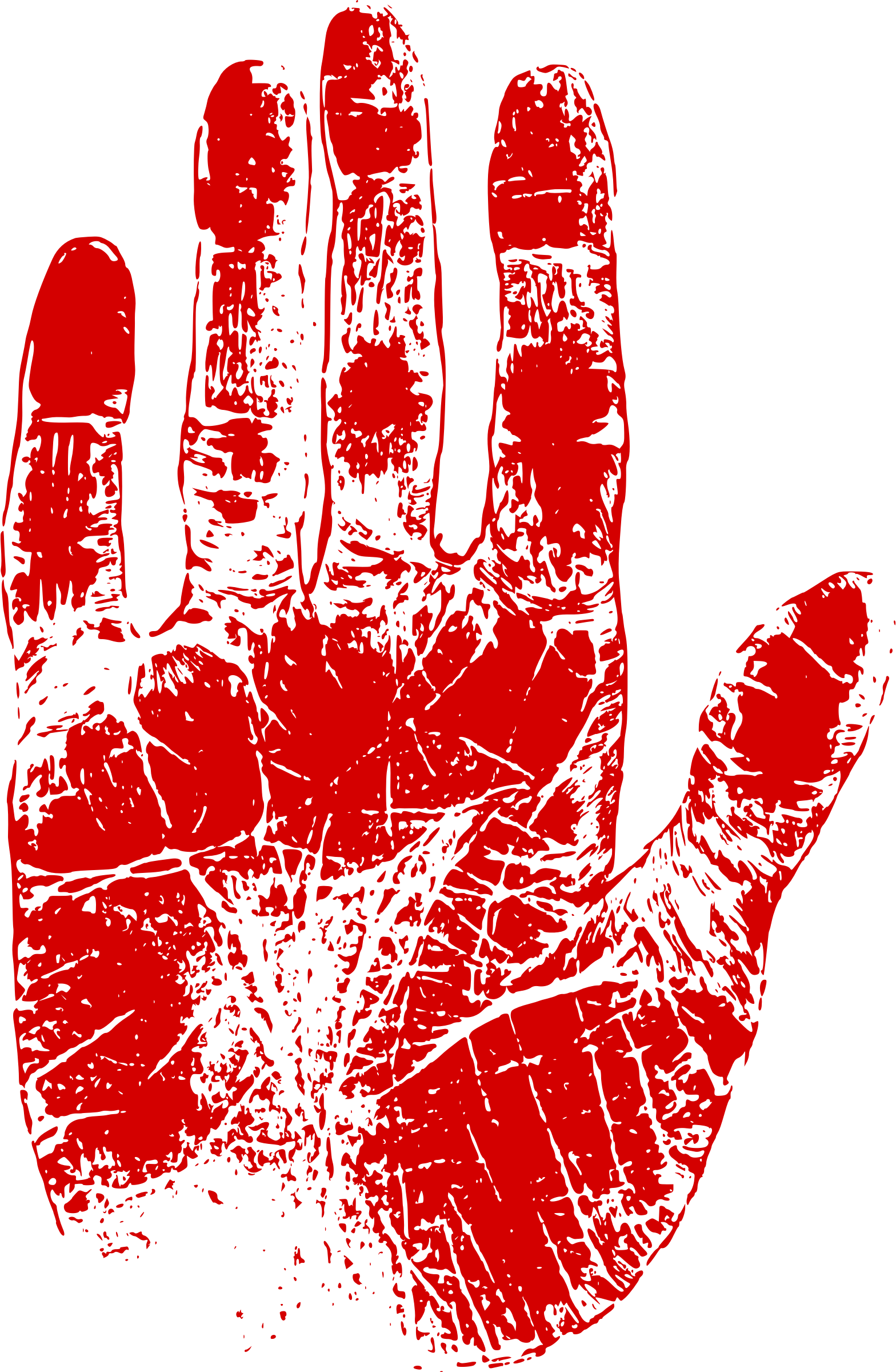 Palm print png. Clipart red big image
