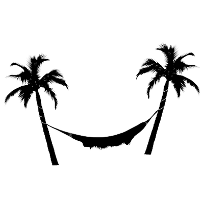 Palm tree black and white png. Hammock trees transparent stickpng