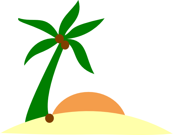 Palm tree sun png. On island clip art