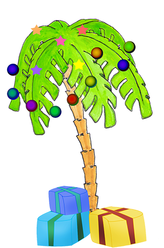 Palm tree christmas tree png. Download hd decorated gifts