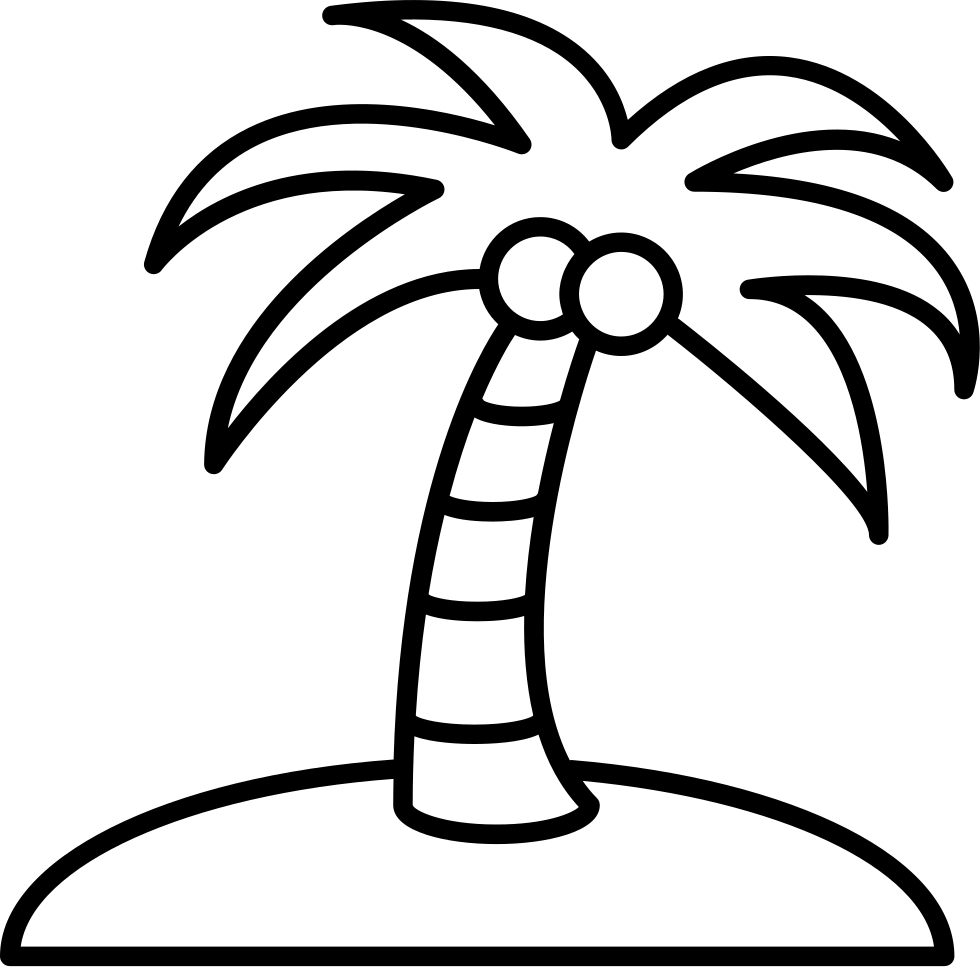 Palm tree clipart black and white png. Drawing at getdrawings com