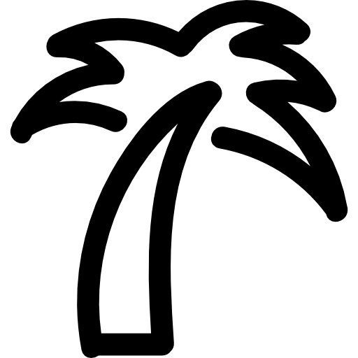 White palm tree png. Icon page svg