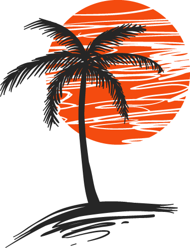 Palm tree sun png. Wall sticker tenstickers