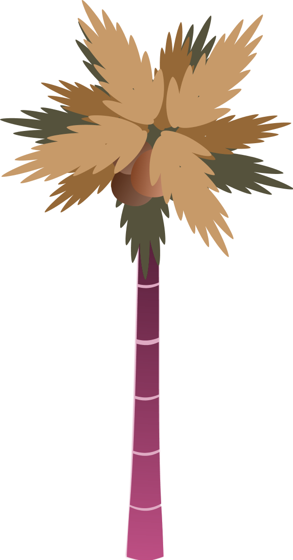 Palm tree vector png. Free leaves clipart download