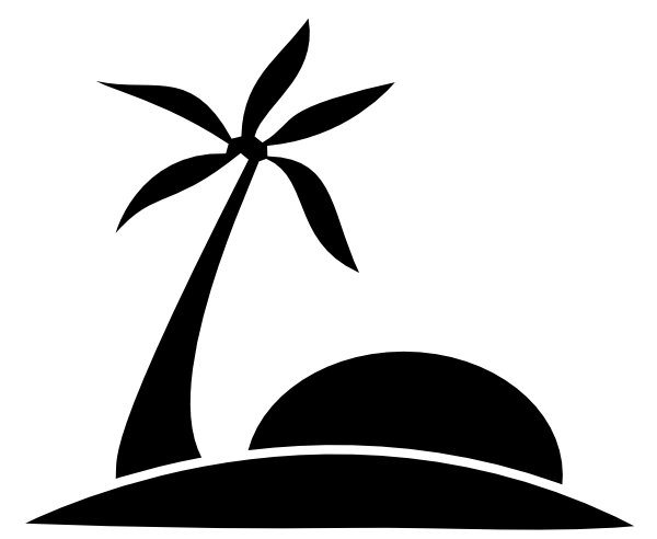 Palm tree sun png. Beach w clip art