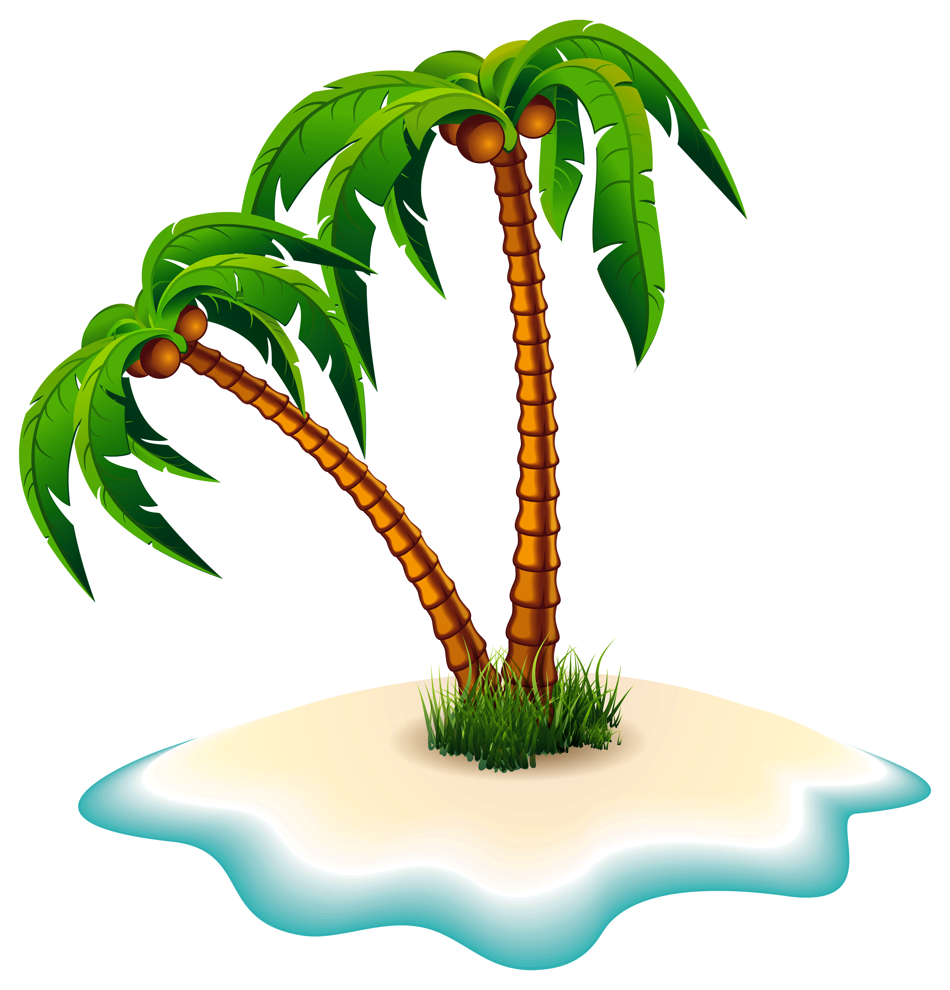 Palm trees clip art png. And island clipart image