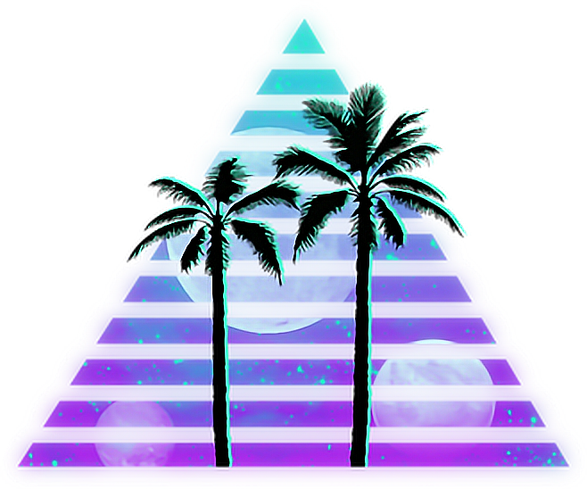 Palm trees png tumblr. Vaporwave palmtrees sticker by