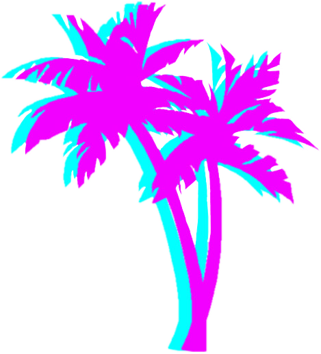 Palm trees tumblr png. Palmtrees asthetic vaporwave freetoedit