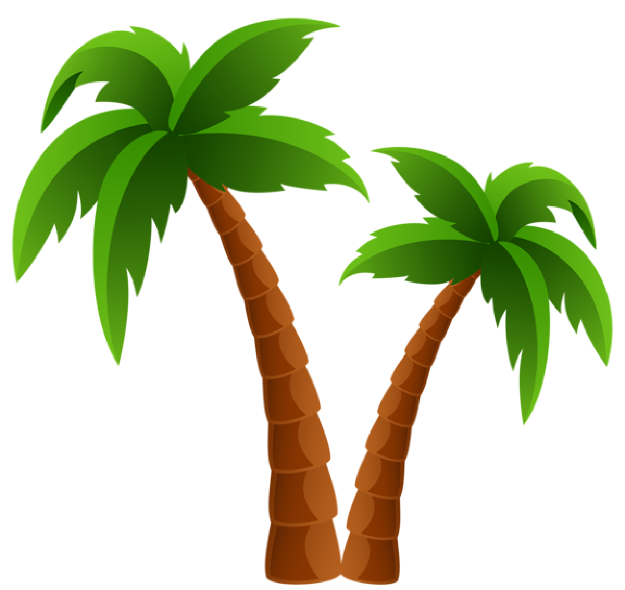 Palm trees vector png. Tree clipart eps free