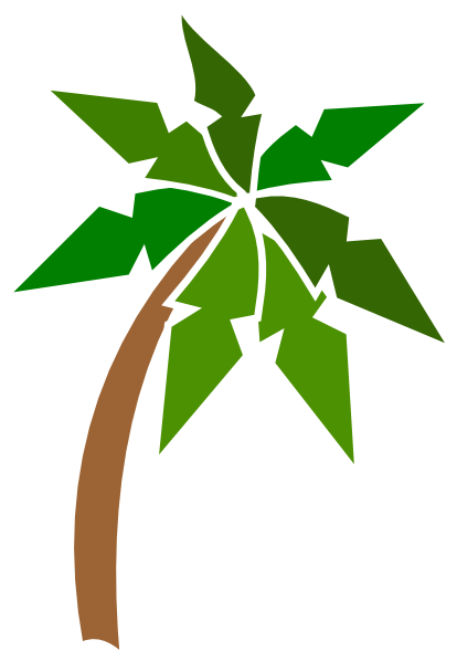 Real palm tree png. Coconut clip art at