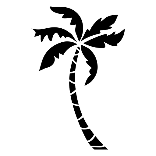 Palmtree vector. Palm tree silhouette at