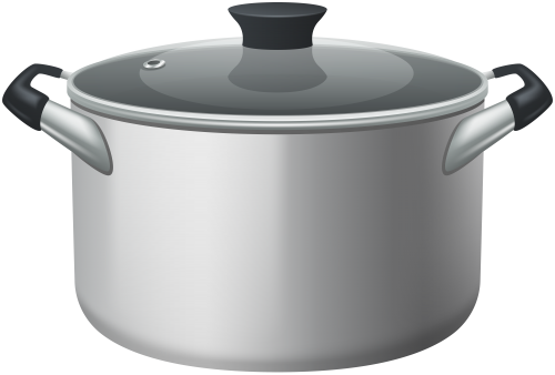 Pot clipart lid. Stainless steel stock with