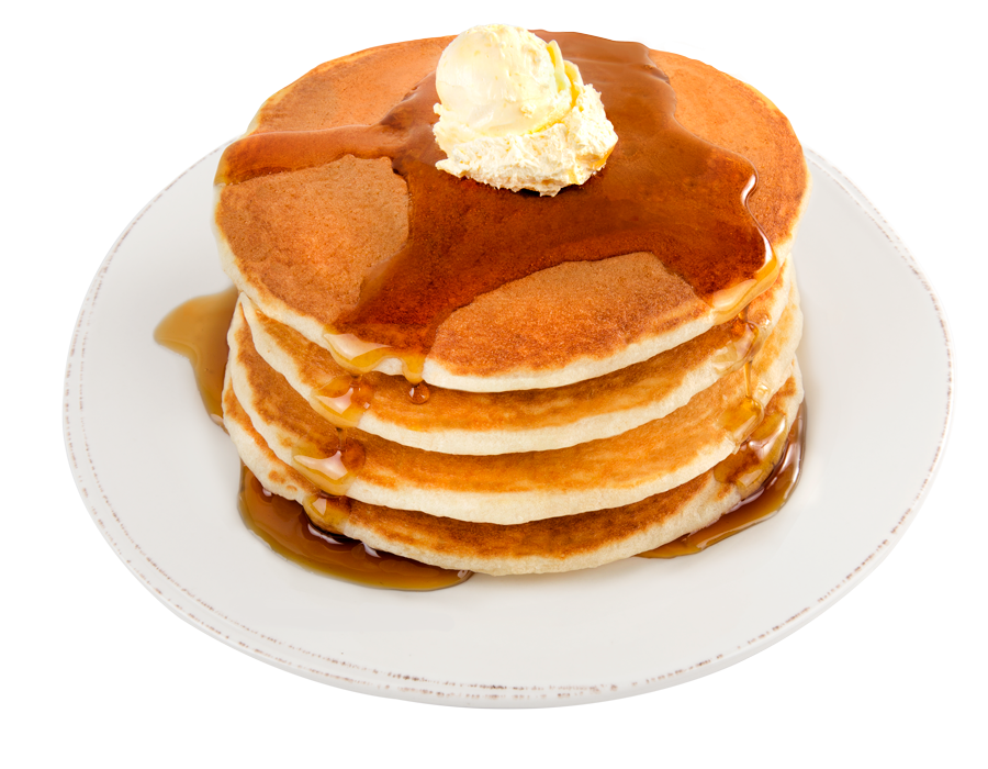 transparent pancakes three