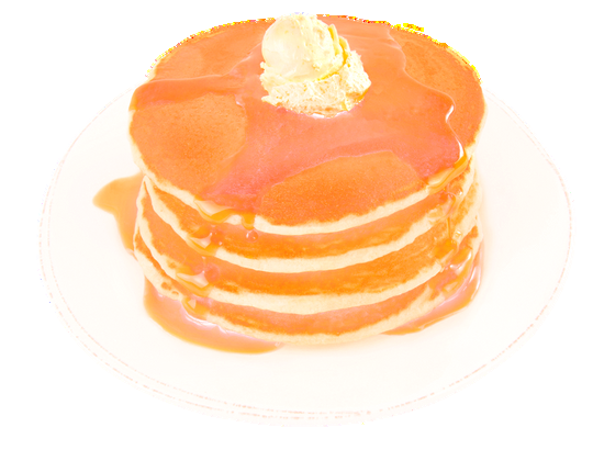 transparent pancakes above