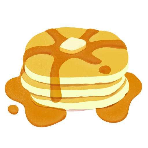 pancakes vector maple syrup