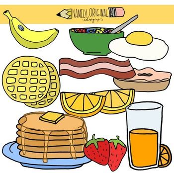 Pinterest food colour images. Pancake clipart big breakfast clipart black and white stock