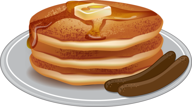 Pancake clipart pancake recipe. Clip art and sausage