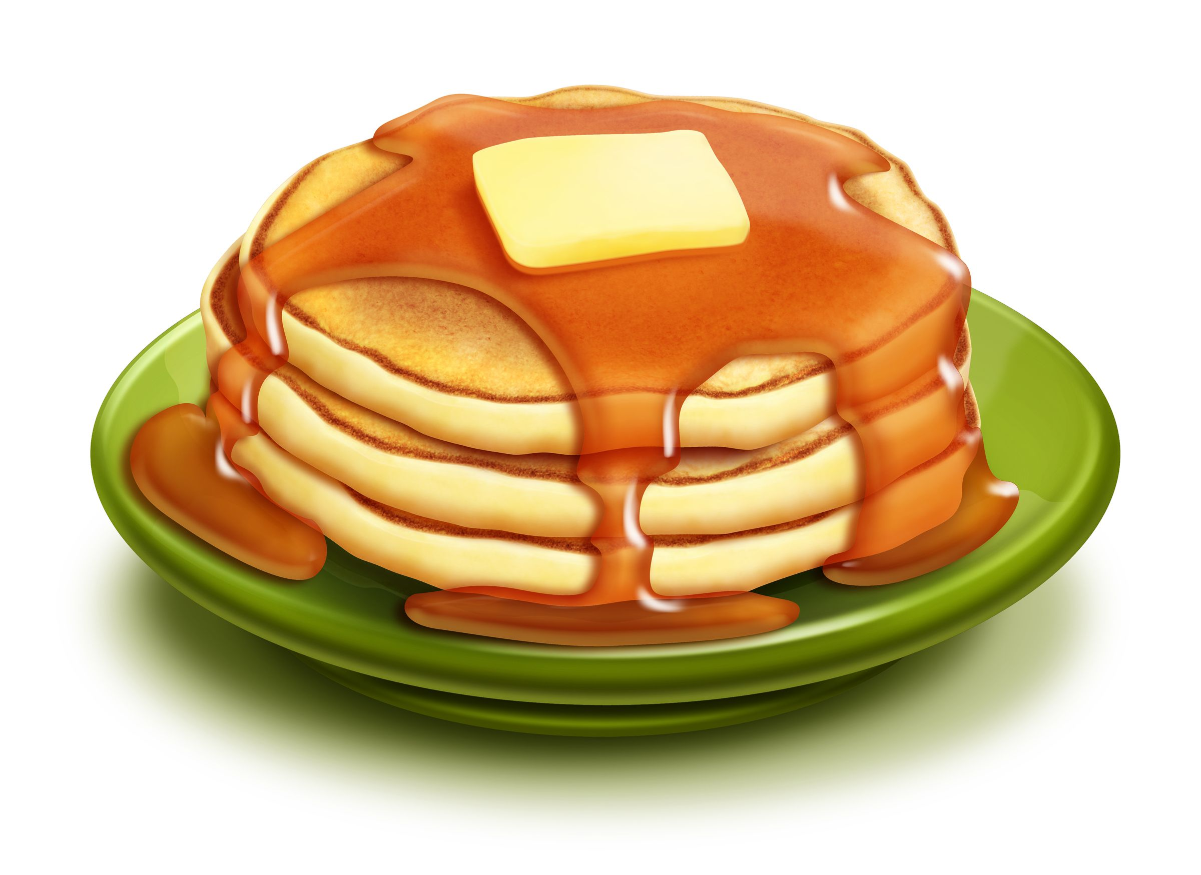 Breakfast clipart dessert. Stack of pancakes clip