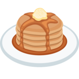 Transparent pancakes emoji. On facebook