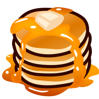 Transparent pancakes emoji. Emojidex custom service and