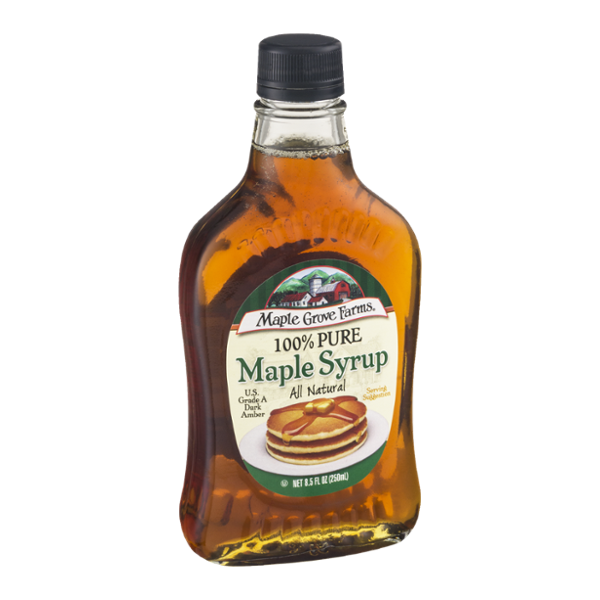 Pancake syrup png. Maple grove farms pure