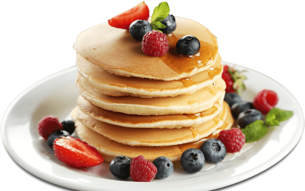 transparent pancakes background