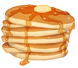 Pancakes vector transparent. Pretty clipart pancake cliparts