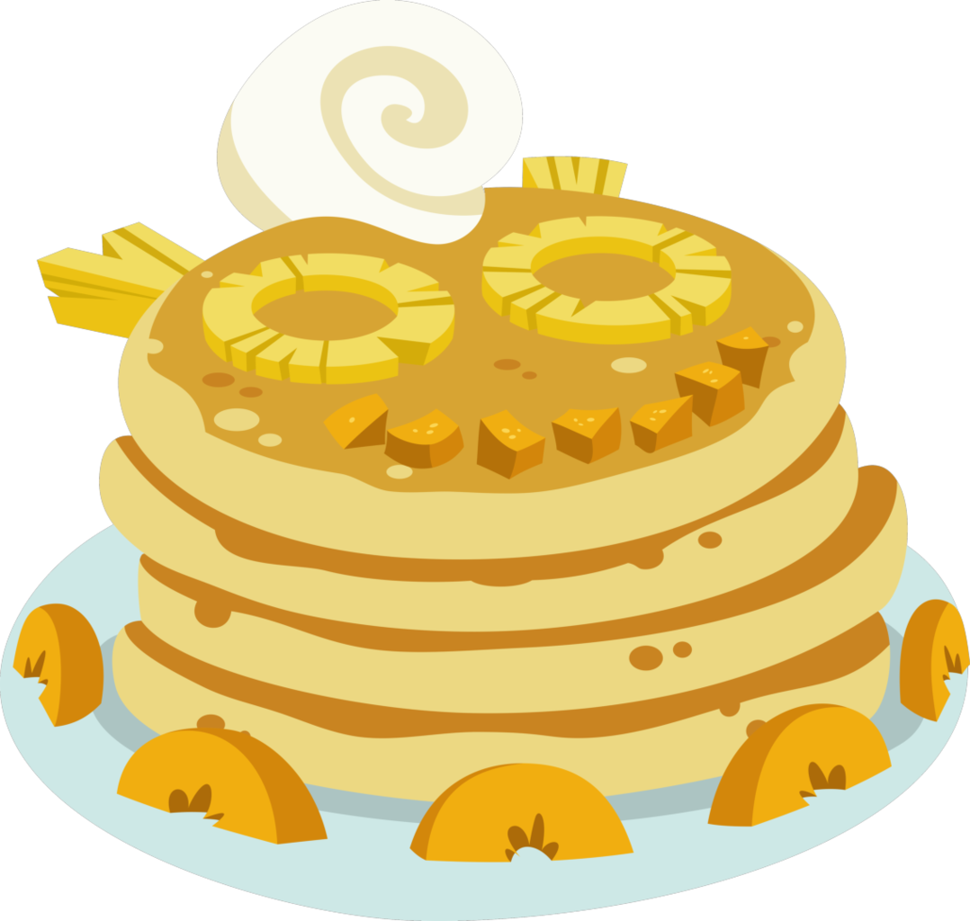 Pancakes vector animated. A royal problem