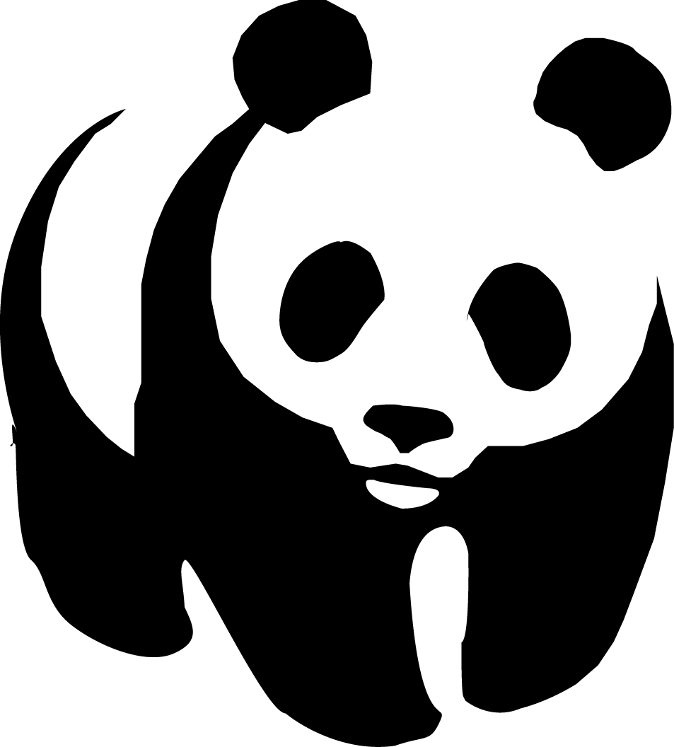 Panda clipart png. Wwf transparent stickpng