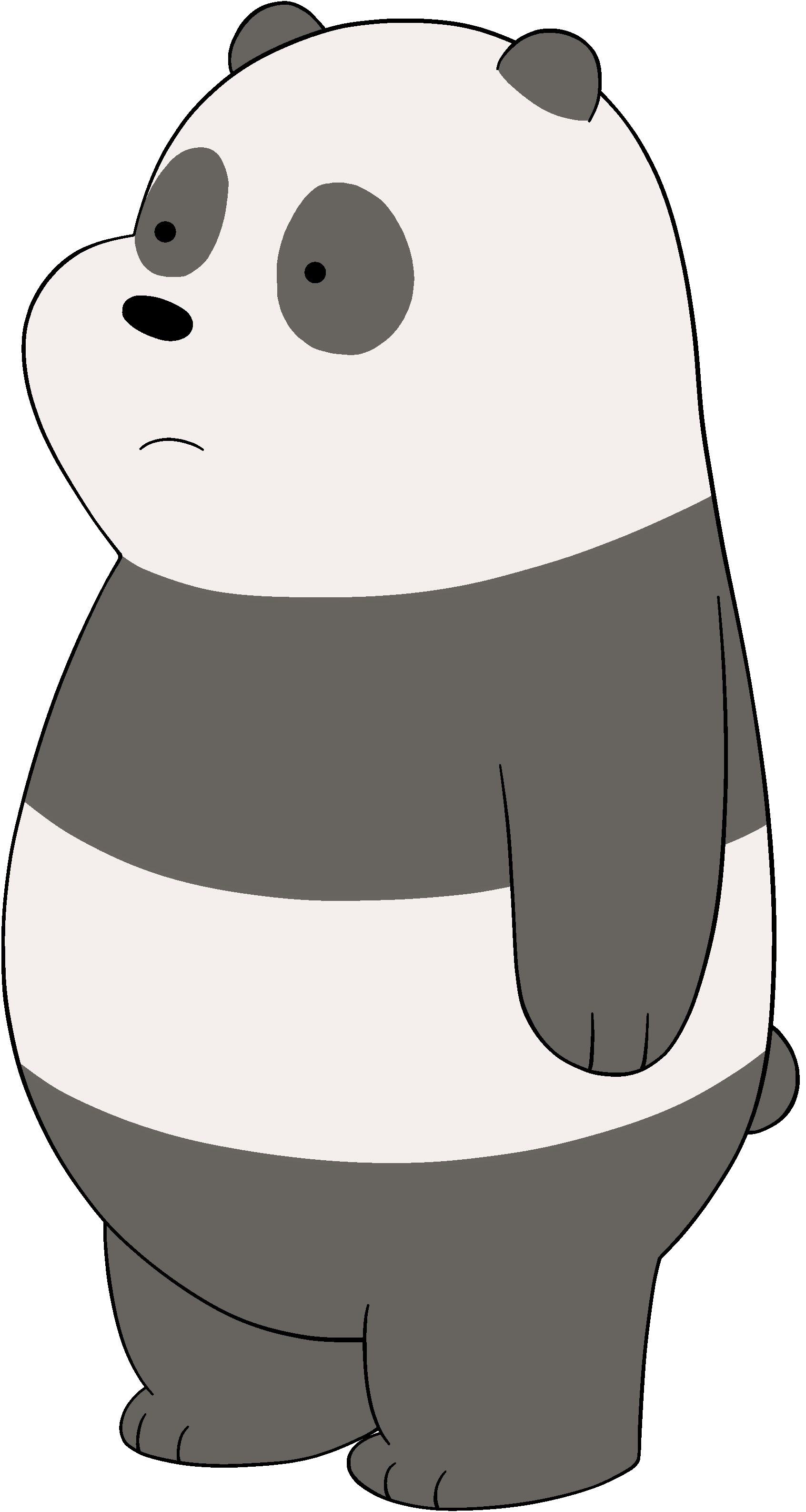 we bare bears panda png