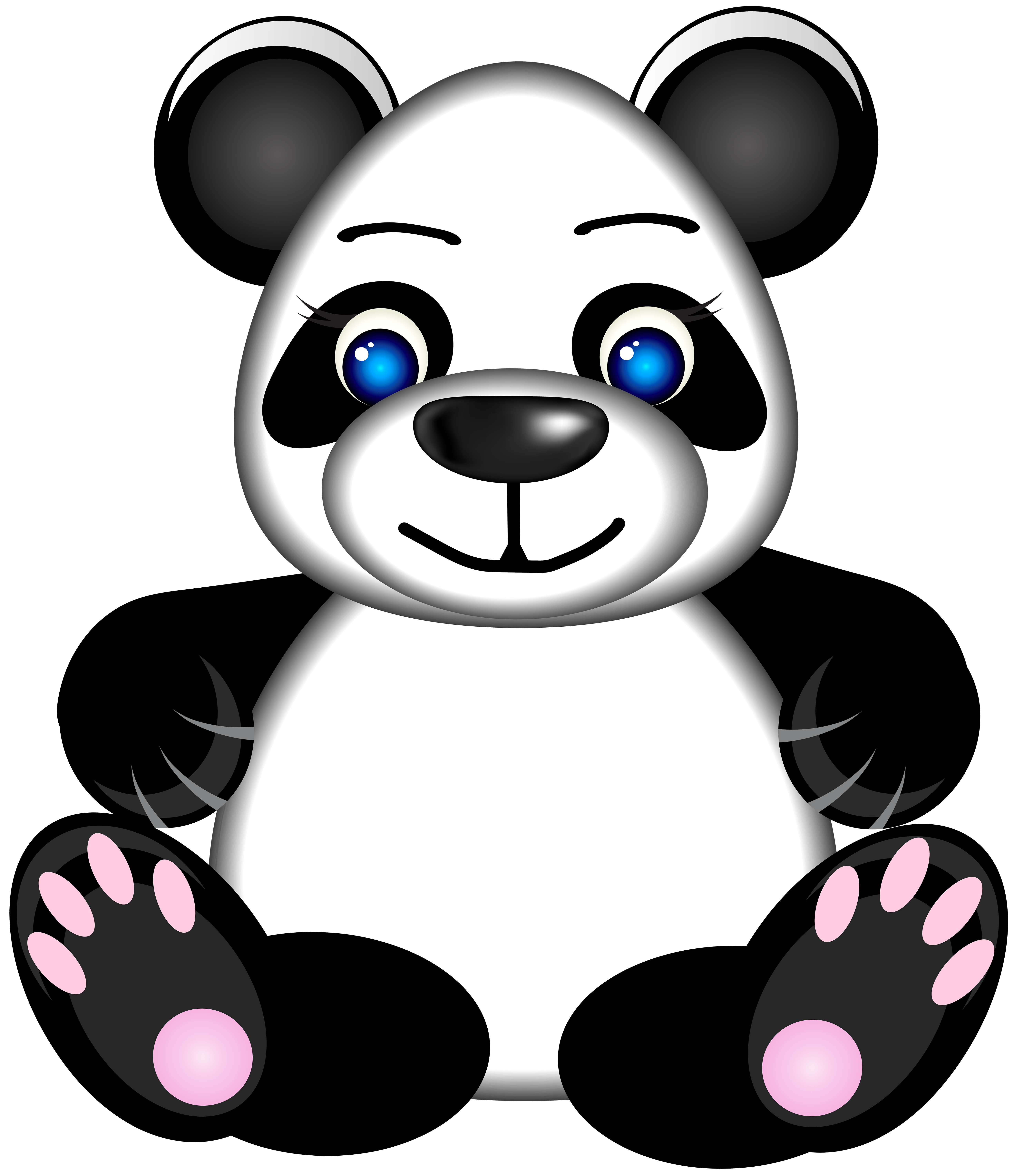 Panda clipart png. Clip art image gallery