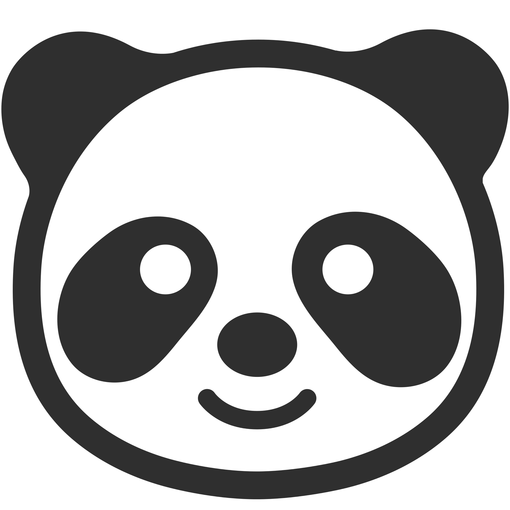 Panda cartoon png. Emoji transparent stickpng