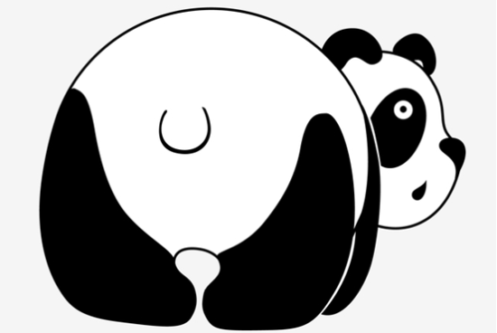 Panda clipart 熊猫. Attention